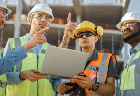 Ekipa budowlana podczas pracy