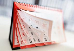 Kalendarz symbolizujący terminowość