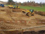 Maszyny budowlane wykonujące wymianę gruntu