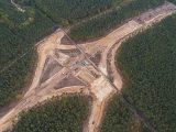 Widok z góry na węzeł drogi ekspresowej